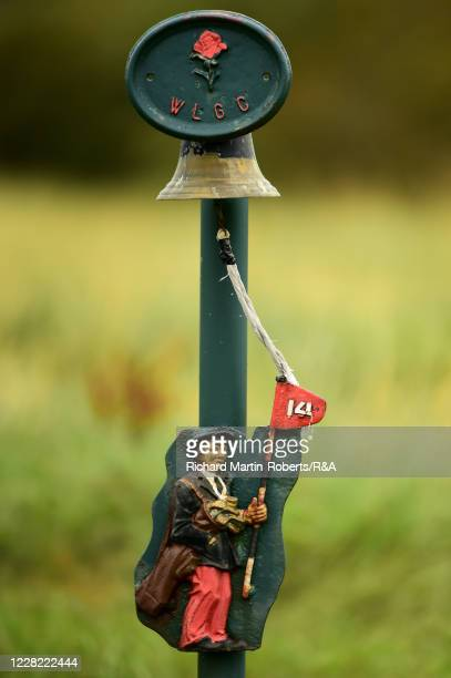 Detail View of the bell on the 14th hole during Round 1 of Matchplay on Day Three of The Women's Amateur Championship at The West Lancashire Golf...