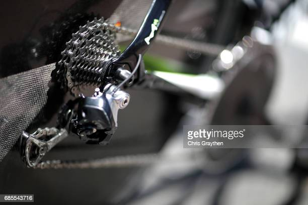 A detail view of the bicycle of Wouter Wippert of Netherlands riding for CannondaleDrapac Pro Cycling during stage five of the AMGEN Tour of...