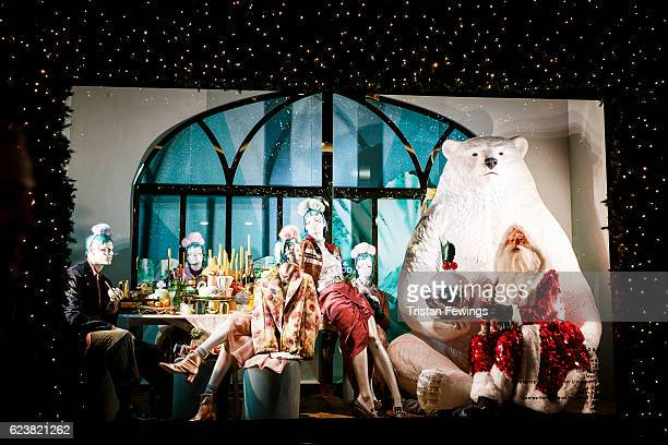 A detail view of the Christamas display windows of Selfridges in the lead up to Christmas on November 16 2016 in London England