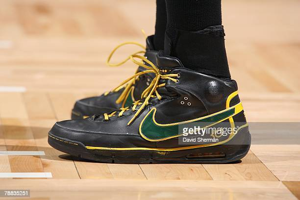 Detail view of the footwear worn by Kevin Durant of the Seattle SuperSonics during the game against the Minnesota Timberwolves at the Target Center...