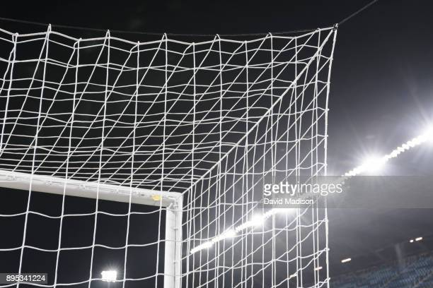 A detail view of the goal net and stadium lights during an international friendly match between the United States Women's National Team and Canada on...