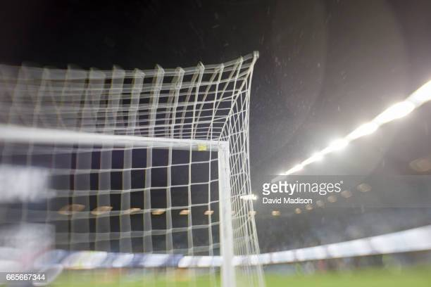 A detail view of the goal net at Avaya Stadium during the FIFA 2018 World Cup Qualifier match between the United States and Honduras on March 24 2017...