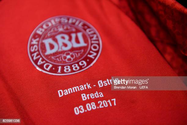 Detail view of the jersey in the Denmark dressingroom prior to the UEFA Women's EURO 2017 Semifinal match between Austria and Denmark at Rat Verlegh...