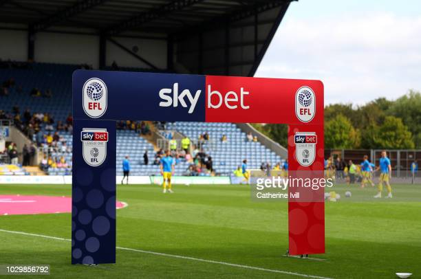Detail view of the SkyBet League One arch before the Sky Bet League One match between Oxford United and Coventry City at Kassam Stadium on September...