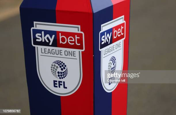 Detail view of the SkyBet League One logo during the Sky Bet League One match between Oxford United and Coventry City at Kassam Stadium on September...