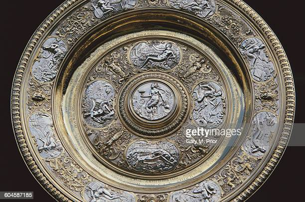 Detail view of the Venus Rosewater Dish trophy for winning the Women's Singles Final at the Wimbledon Lawn Tennis Championship on 7 July 1990 at the...