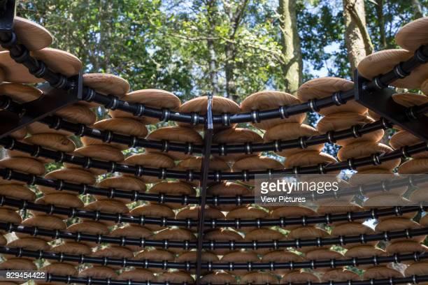 Detail view of top of pavilion Perspectives Pavilion Surrey Hills United Kingdom Architect Giles Miller Studio 2016