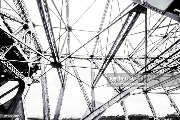 detail view of urban bridge - solid stock pictures, royalty-free photos & images