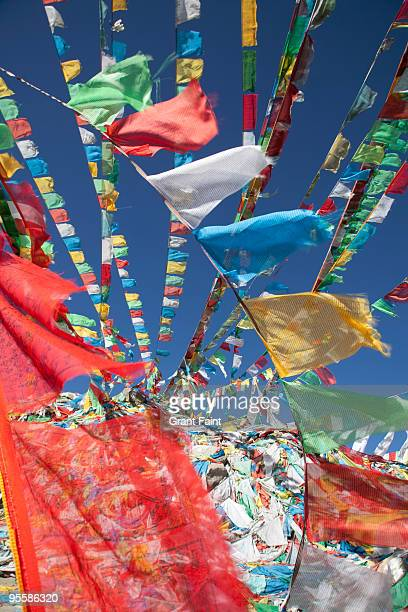 detail view prayer flags