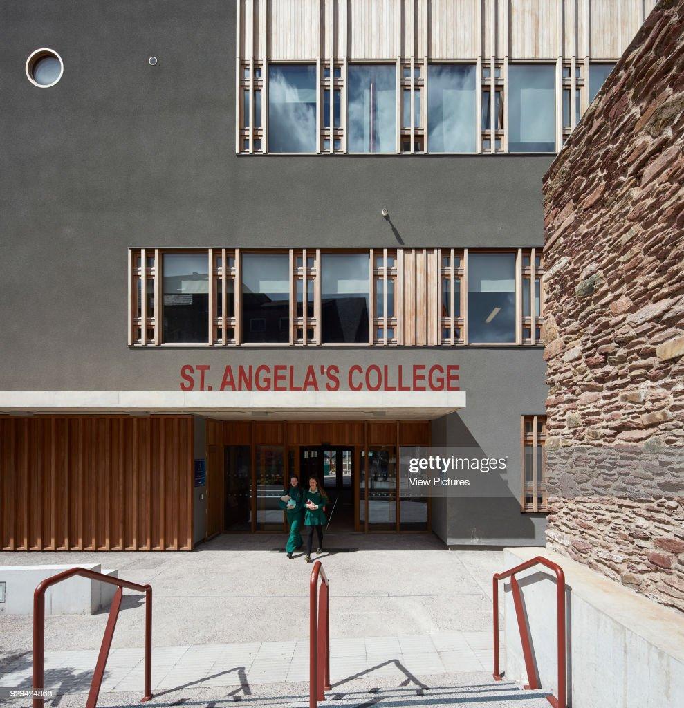 detailed elevation of main entrance st angelas college cork cork ireland architect