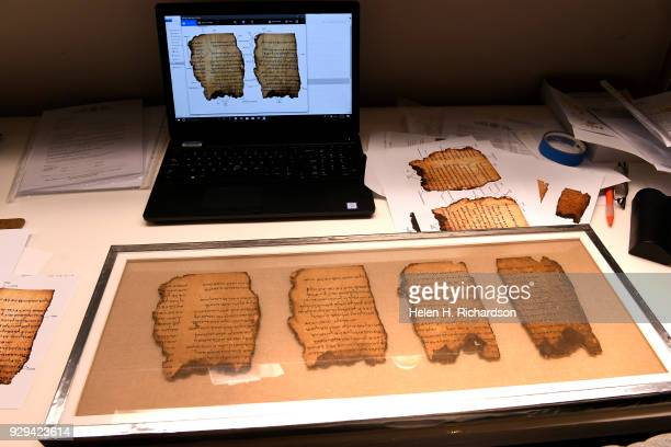 Detailed image of one of the Dead Sea Scrolls that will be on display as part of the upcoming Dead Sea Scrolls exhibit opening soon at the Denver...