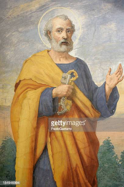 detailed painting of saint peter - religion stock pictures, royalty-free photos & images