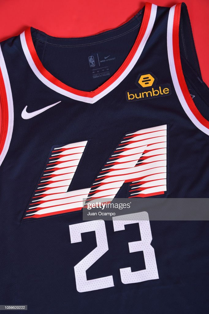 new product 72948 07ed8 A detailed photo of the LA Clippers Nike City Edition jersey ...