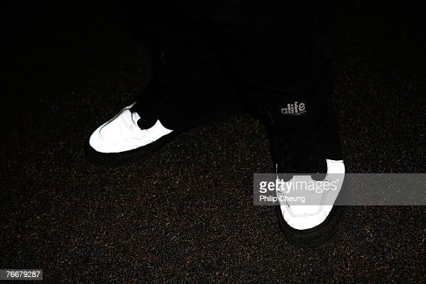 A detailed shot of the shoes of actor Yusuke Iseya as he arrives at the Sukiyaki Western Django North American Premiere screening during the Toronto...