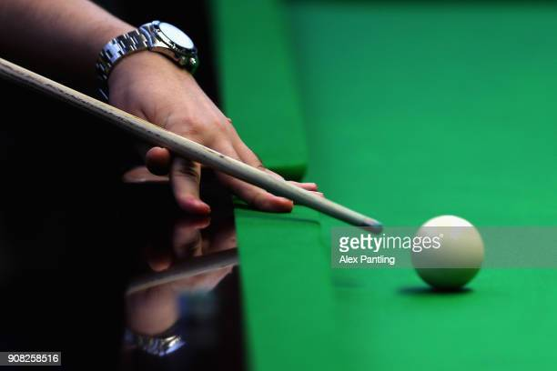 A detailed view as supporters play in the fanzone prior to The Dafabet Master Final between Kyren Wilson and Mark Allen at Alexandra Palace on...