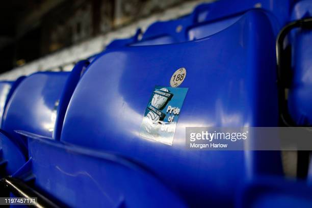 A detailed view inside the stadium prior to the FA Cup Third Round match between Birmingham City and Blackburn City at St Andrew's Trillion Trophy...