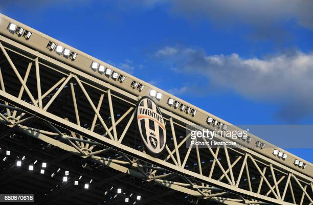 A detailed view inside the stadium prior to the UEFA Champions League Semi Final second leg match between Juventus and AS Monaco at Juventus Stadium...