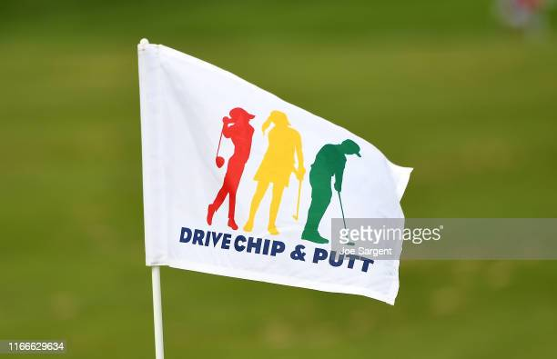 Detailed view of a flag during the Drive, Putt, and Chip competition at Oakmont Country Club on September 7, 2019 in Oakmont, Pennsylvania.