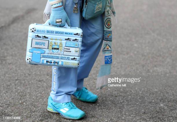 A detailed view of a Manchester City fans brief case prior to the Premier League match between AFC Bournemouth and Manchester City at Vitality...