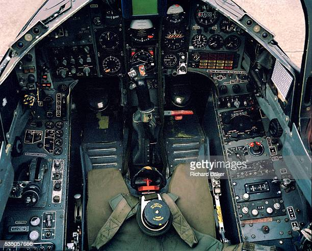 A detailed view of a Mark 1 Hawk jet belonging to 'Synchro Leader' of the elite 'Red Arrows' Britain's prestigious Royal Air Force aerobatic team We...