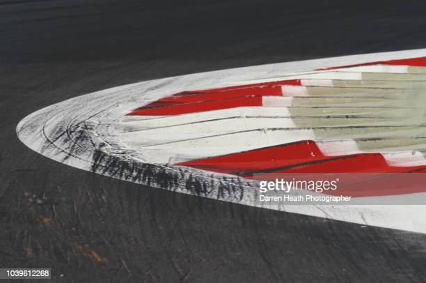 A detailed view of a race track curb during the Formula One Italian Grand Prix on 7 September 1997 at the Autodromo Nazionale Monza Monza Italy
