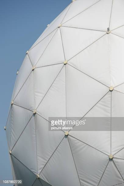 Detailed view of a radome at the Bad Aibling Station near Bad Aibling Germany 06 August 2013 Bad Albing Station was a large spy station of US...