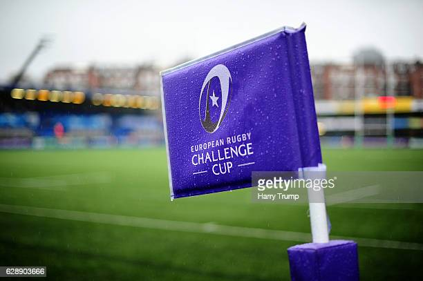 Detailed view of a sign during the European Rugby Challenge Cup match between Cardiff Blues and Bath Rugby at Cardiff Arms Park on December 10 2016...