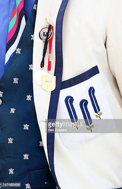 A detailed view of a spectators jacket during the fourth day of the 2012 Henley Royal Regatta on June 30 2012 in HenleyonThames England