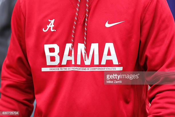 A detailed view of a sweater prior to the 2016 ChickfilA Peach Bowl between the Alabama Crimson Tide and the Washington Huskies at the Georgia Dome...