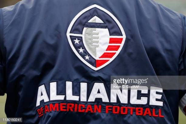 A detailed view of a team jacket during an Alliance of American Football game between the Birmingham Iron and the Salt Lake Stallions at Legion Field...