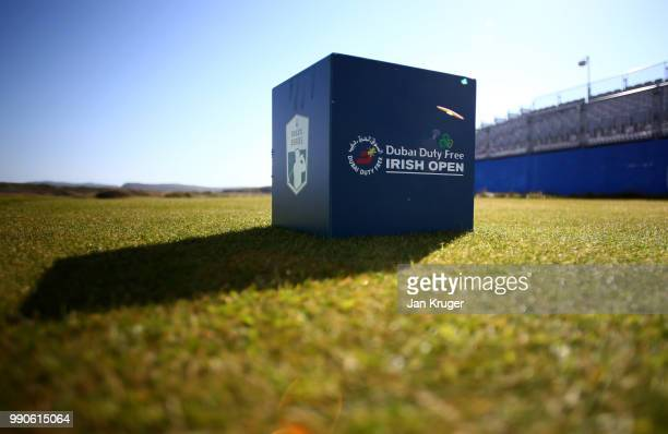 Detailed view of a tee box ahead of the Dubai Duty Free Irish Open at Ballyliffin Golf Club on July 3, 2018 in Ballyliffin, Ireland.