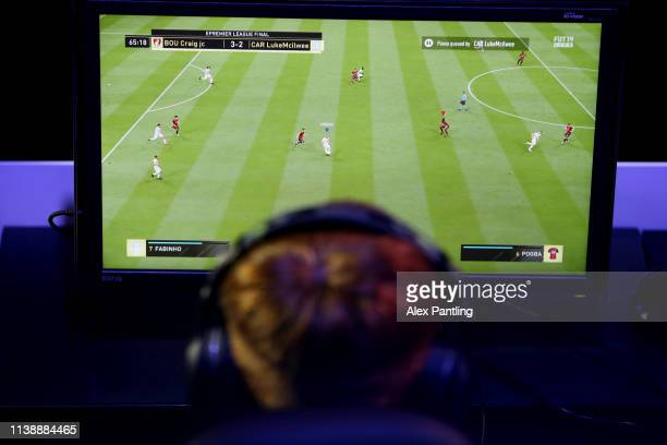 A detailed view of action during day one of the 2019 ePremier League Finals at Gfinity Arena on March 28 2019 in London England