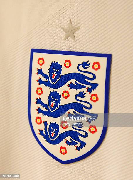 Detailed view of an England badge during the Final of the Toulon Tournament between England and France at Parc Des Sports on May 29 2016 in Avignon...