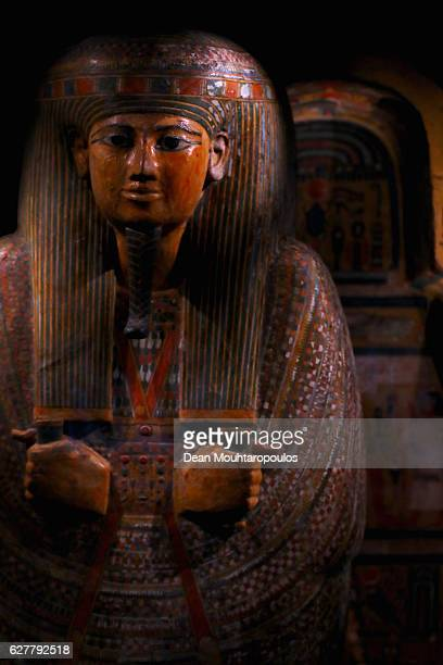 A detailed view of art or recovered pieces displayed in part in the permanent Egyptian collection and also part of the 'Queens of the Nile'...