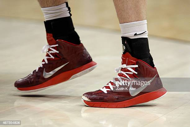 A detailed view of Nike shoes during the game between the Lafayette Leopards and the Villanova Wildcats during the second round of the 2015 NCAA...