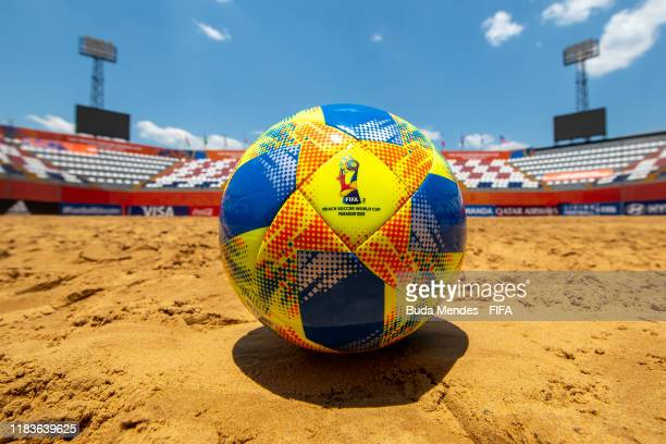 A detailed view of official ball at the Estadio Mundialista Los Pynandi on November 20 2019 in Asuncion Paraguay