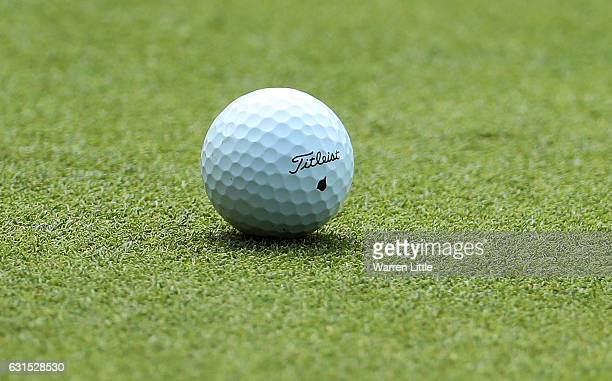 A detailed view of Rory McIlroy's ball during day one of The BMW South African Open Championship at Glendower Golf Club on January 12 2017 in...