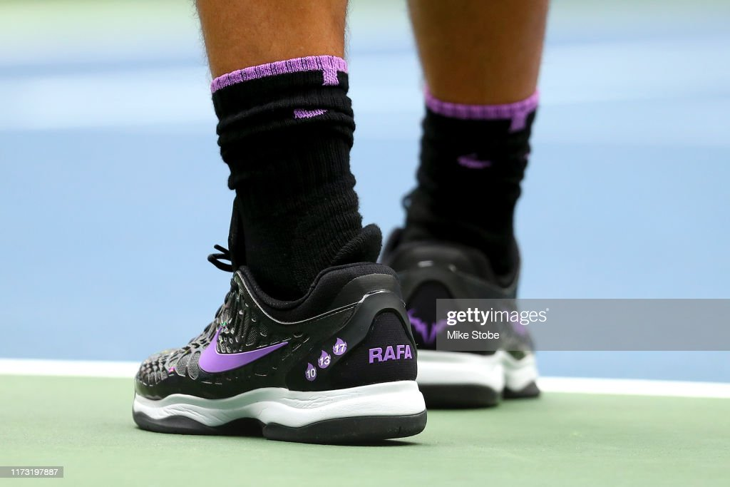 A Detailed View Of Shoes Worn By Rafael Nadal Of Spain Are Seen News Photo Getty Images