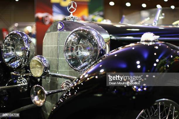 A detailed view of the 1935 mercedes 500k special roadster during the 25th edition of InterClassics Maastricht held at MECC Halls on January 11 2018...