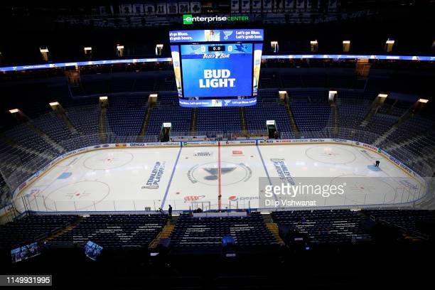 Detailed view of the arena prior to Game Four between the San Jose Sharks and the St. Louis Blues in the Western Conference Finals during the 2019...
