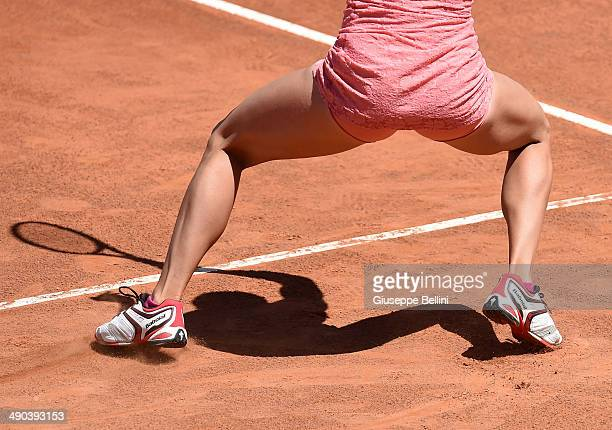 A detailed view of the Babolat shoes worn by Camila Giorgi of Italy in action against Christina McHale of USA during day 4 of the Internazionali BNL...