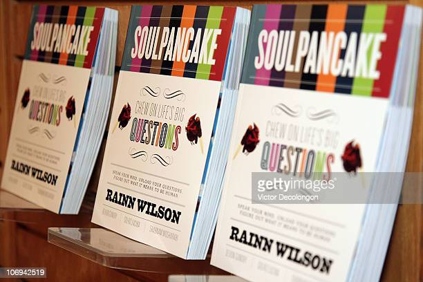 A detailed view of the book 'SoulPancake' by actor Rainn Wilson prior to a book signing on November 17 2010 in Los Angeles California