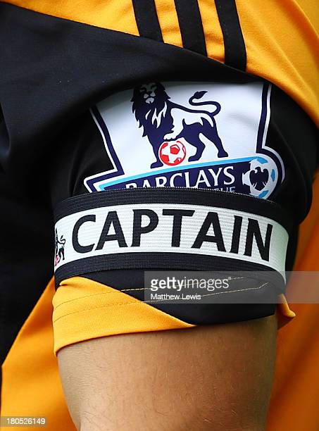Detailed view of the captain's armband of Robert Koren of Hull City during the Barclays Premier League match between Hull City and Cardiff City at KC...