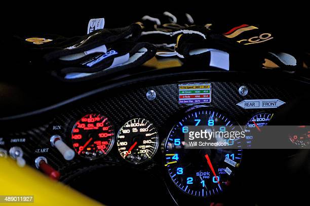 A detailed view of the dashboard of the Dollar General Toyota driven by Matt Kenseth in the garage during practice for the NASCAR Sprint Cup Series...