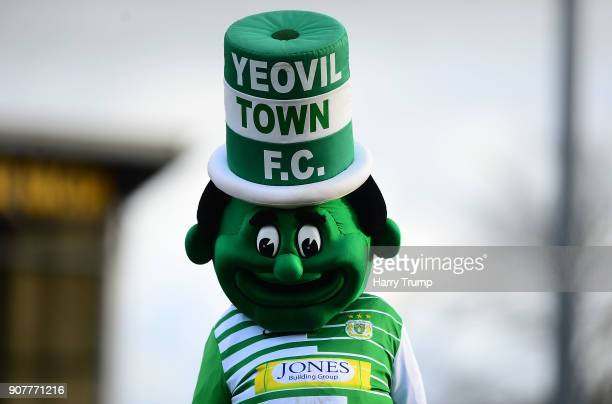 Detailed view of the Jolly Green Giant the Yeovil Town Mascot during the Sky Bet League Two match between Yeovil Town and Chesterfield at Huish Park...