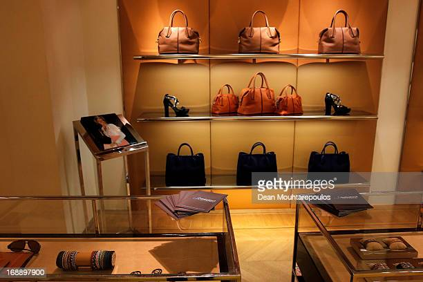 A detailed view of the leaflet and Tod's products pictured during the Tod's DD Bag Collection Celebration Hosted By Carolina GonzalezBunster...