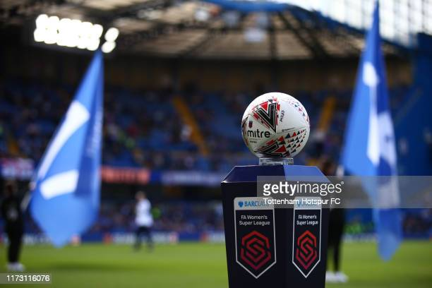 Detailed view of the match ball during the Barclays FA Women's Super League match between Chelsea and Tottenham Hotspur at Stamford Bridge on...