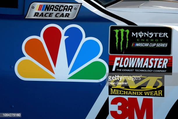 A detailed view of the Nationwide Chevrolet as it sits in the garage area during practice for the Monster Energy NASCAR Cup Series First Data 500 at...