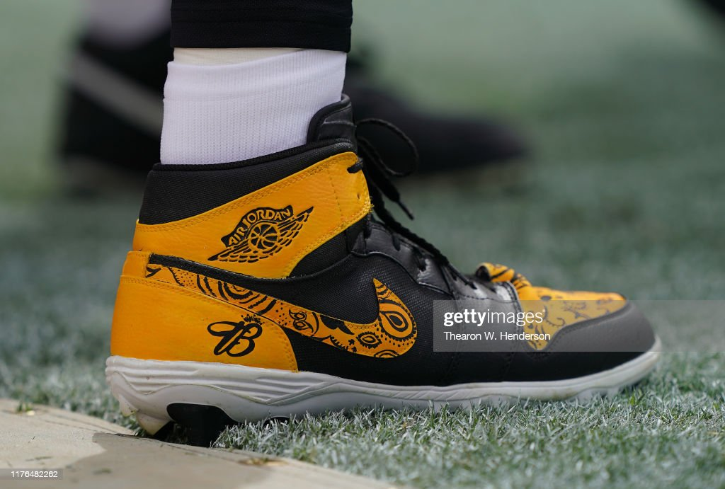 A Detailed View Of The Nike Air Jordan S One S Football Cleats Worn News Photo Getty Images