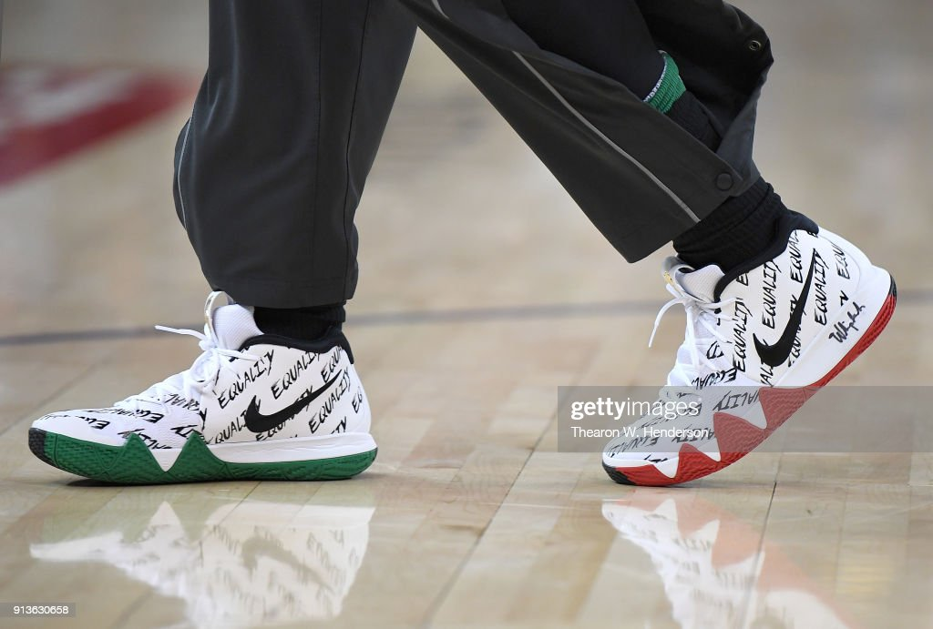 hot sale online 18011 8f3f3 A detailed view of the Nike Kyrie 4's 'BHM' Spread The ...